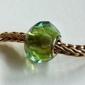 Trollbeads Green Prism Retired Bead